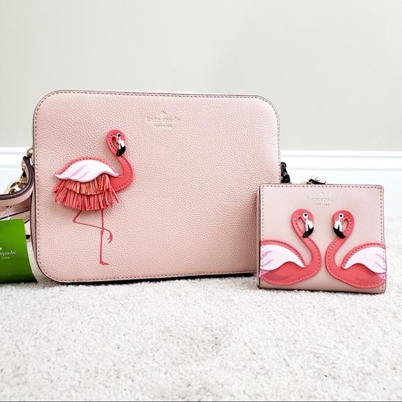 kate spade Handbags - Kate Spade Flamingo Crossbody & Wallet Bundle!